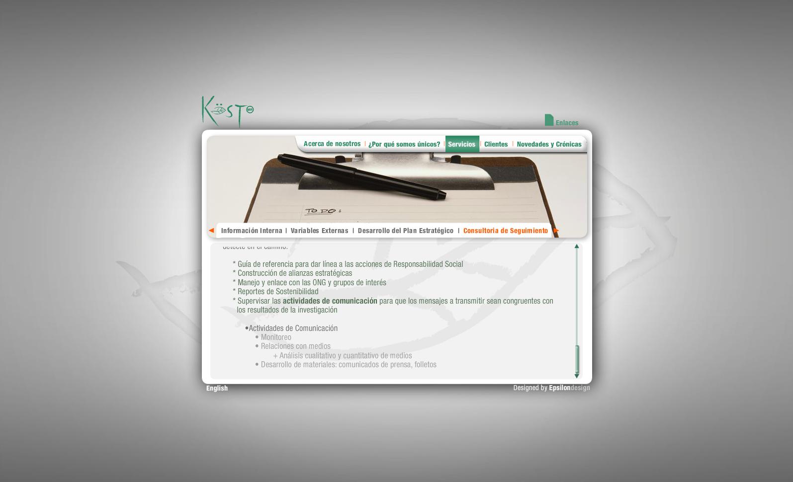 Verde Kost - Servicios (Consultoria de seguimiento 2)