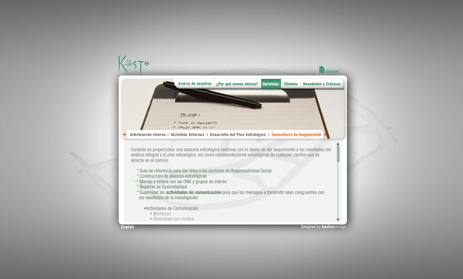 Verde Kost - Servicios (Consultoria de seguimiento)