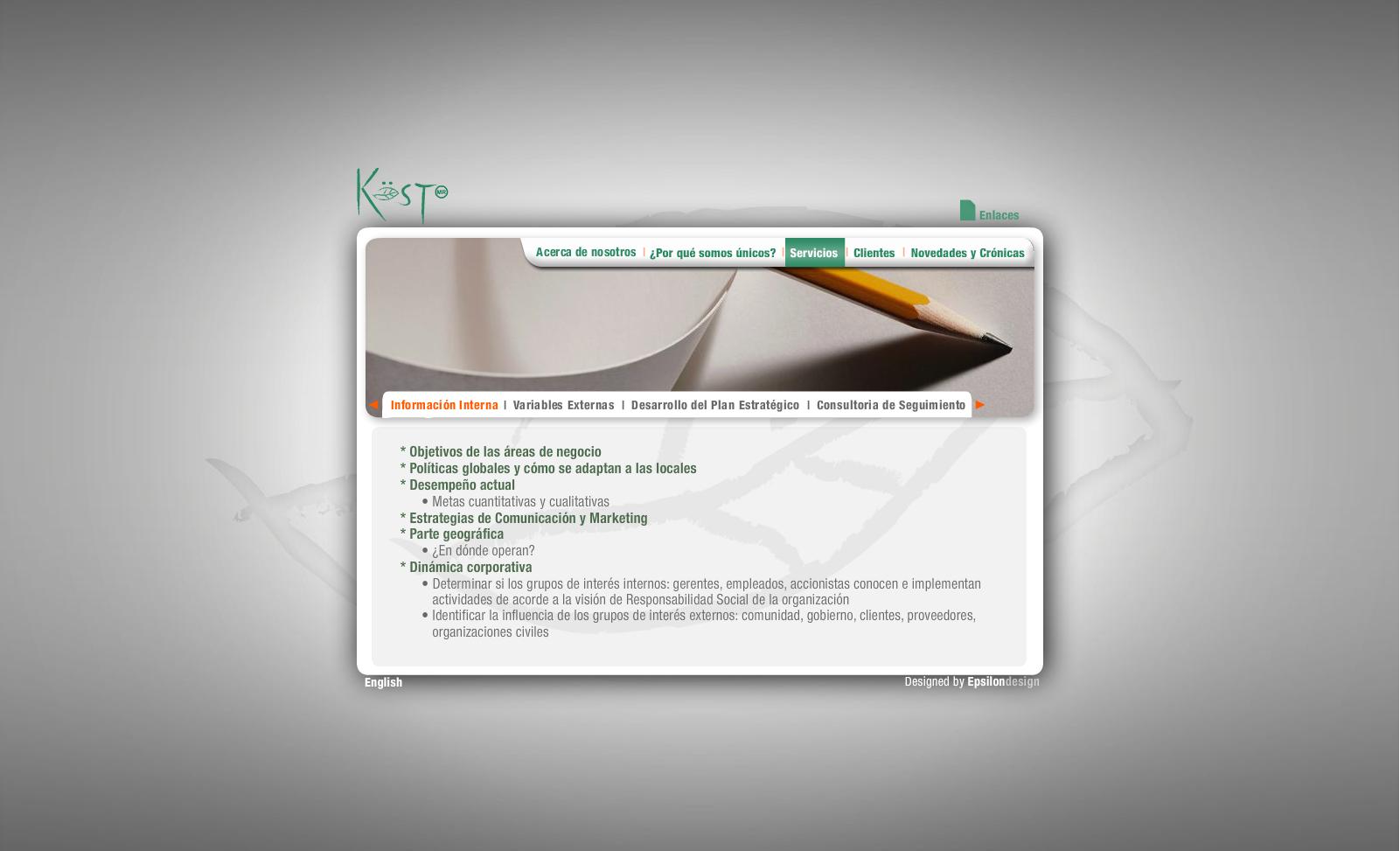 Verde Kost - Servicios (Información interna)